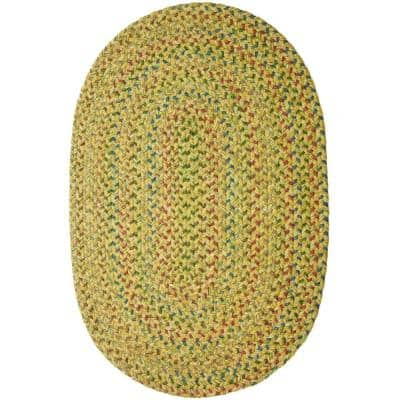 Winslow Sand Natural Multicolored 5 ft. x 8 ft. Oval Indoor/Outdoor Braided Area Rug