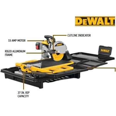 10 in. High Capacity Wet Tile Saw