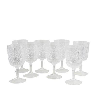 Elmira 16 oz. Clear Acrylic Goblets (8-Pack)