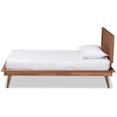Karine Walnut Twin Platform Bed