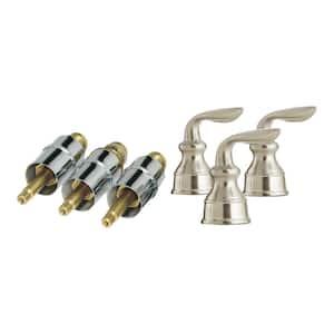 Avalon 3-Handle Metal Lever Handle Rebuild Kit, Brushed Nickel
