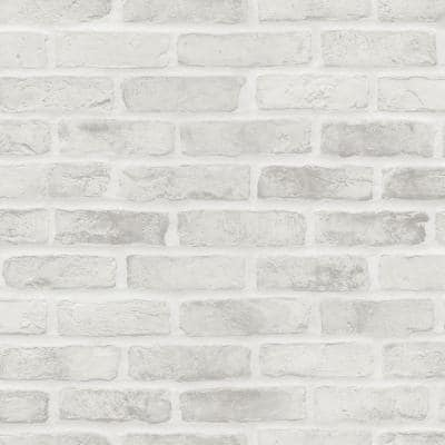 Brick Wallpaper Home Decor The Home Depot