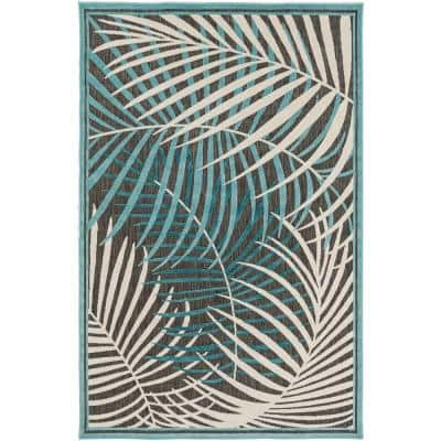 Guaral Teal 4 ft. x 6 ft. Indoor/Outdoor Area Rug