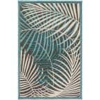 Guaral Teal 5 ft. x 7 ft. Indoor/Outdoor Area Rug