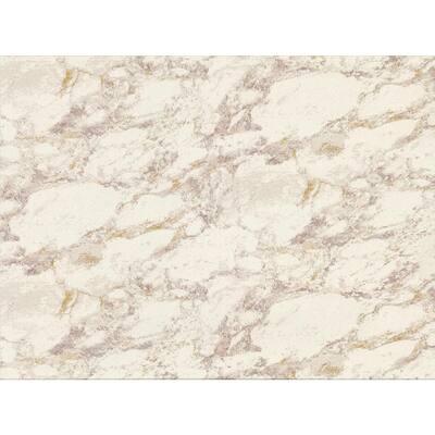 Carton Eggshell Faux Marble Wallpaper Sample