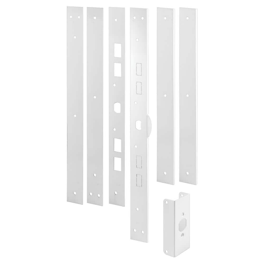 White by Prime-Line Products Prime-Line Products U 11026 Jamb Repair /& Reinforcement Kit Steel Construction 59-1//2 Installed