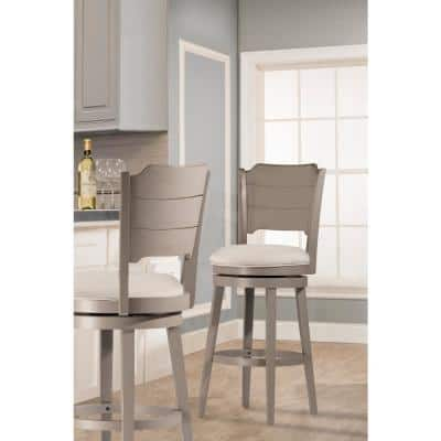 Clarion Distressed Gray Swivel Counter Stool