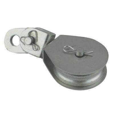 3-1/8 in. Zinc-Plated Swivel Eye Cable Block