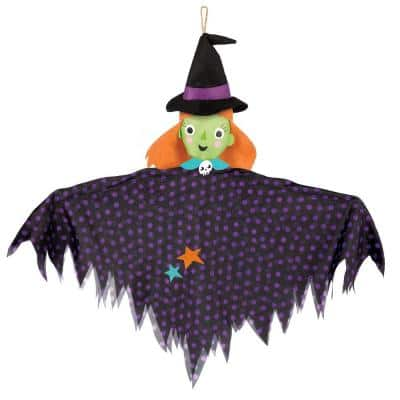 24 in. Medium Halloween Hanging Witch Decoration (4-Pack)