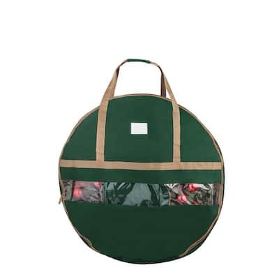 Ultimate 48 in. Christmas Wreath Storage Bag Green