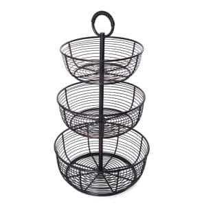 3-Tier Round Wrap Basket