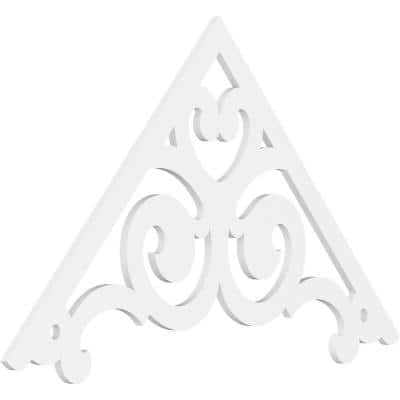 1 in. x 60 in. x 37-1/2 in. (14/12) Pitch Hurley Gable Pediment Architectural Grade PVC Moulding