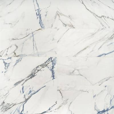 Calacatta Indigo 12 in. x 24 in. Matte Porcelain Floor and Wall Tile (6 pieces/11.62 sq. ft./Case)
