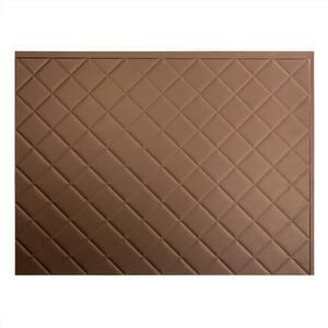 Quilted 18 in. x 24 in. Argent Bronze Vinyl Decorative Wall Tile Backsplash 18 sq. ft. Kit