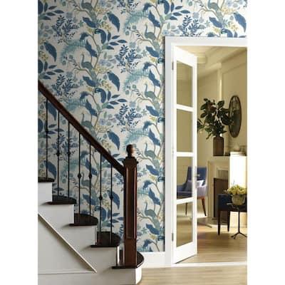 60.75 sq. ft. Peacock Wallpaper