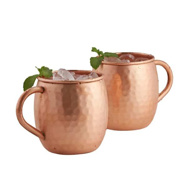 Set of 4 Copper 16-Ounce Monogrammed W Old Dutch International OS428MW Solid Moscow Mule Mug