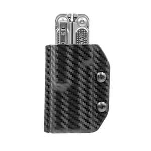 Kydex Multi-Tool Sheath for Leatherman Free P4 - Multi-Tool, Holder Belt Holster Cover EDC (Carbon Fiber Black)