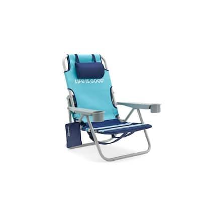 Blue Turtle Aluminum Folding Beach Chair