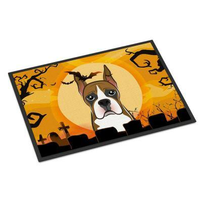 24 in. x 36 in. Indoor/Outdoor Halloween Boxer Door Mat