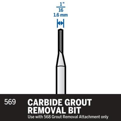 1/16 in. Rotary Tool Carbide Grout Removal Accessory