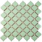 Hudson Tangier Light Green 12 in. x 12 in. Porcelain Mosaic Tile (10.96 sq. ft. / Case)