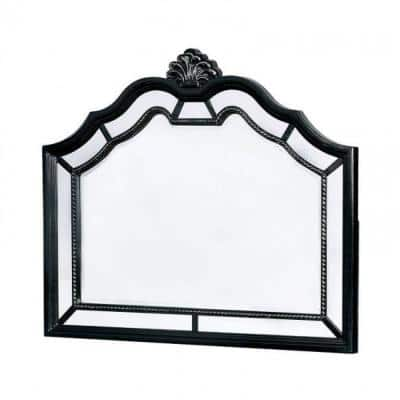 Small Arch Black Beveled Glass Classic Mirror (2.75 in. H x 45 in. W)