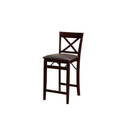 Rich Espresso Wood Portable Folding Chair