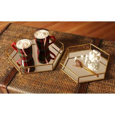 Felicia Gold Decorative Tray (Set of 2)