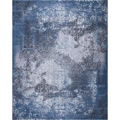 Aurora Blue 8 ft. x 10 ft. Indoor/Outdoor Area Rug