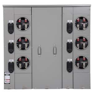 Uni-PAK 6-Gang 600 Amp Ringless Style Multi-Family Metering