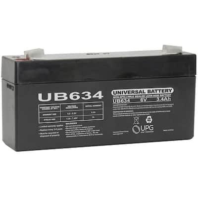 6-Volt 3.4 Ah F1 Terminal Sealed Lead Acid (SLA) AGM Rechargeable Battery