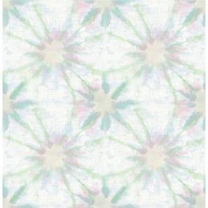 Corona, Green Iris Shibori Paper Strippable Wallpaper Roll (Covers 56.4 sq. ft.)