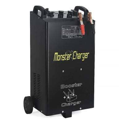 55 Amp 12-Volt/24-Volt Automotive Fast Jump Start Wheel Battery Charger for Car and Truck