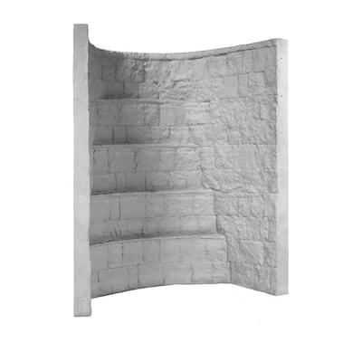 66 in. x 44 in. x 84 in. Grey Composite Window Well