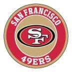 NFL San Francisco 49ers Red 2 ft. x 2 ft. Round Area Rug