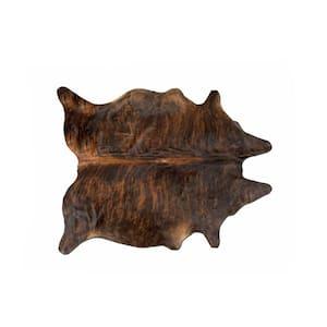 Kobe Exotic Cowhide Dark Brindle 5 ft. x 7 ft. Animal Print Area Rug