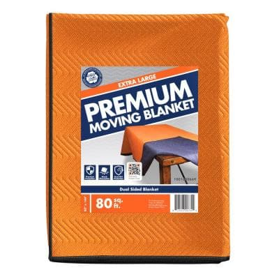 80 in. L x 144 in. W Extra-Large Premium Moving Blanket 4 Pack
