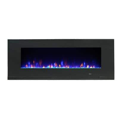 Mirage 60 in. Wall Mount with Multi-Color Flames