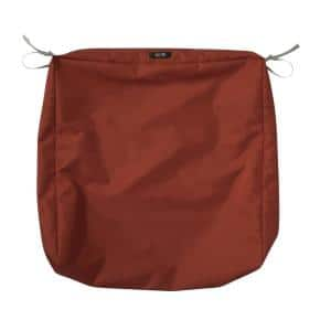 Ravenna Water-Resistant 23 in. x 23 in. x 5 in. Patio Seat Cushion Slip Cover, Spice