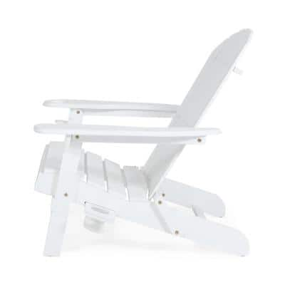 Lissette White Foldable Wood Adirondack Chair