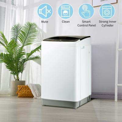 8 lb. 0.45 cu. ft. High-Efficiency Full-Automatic Washing Top Load Washing Machine Portable Compact Laundry, ENERGY STAR