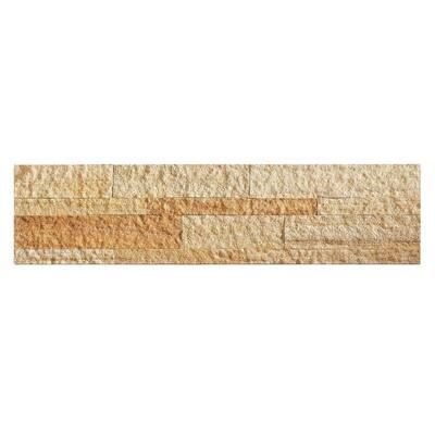 23.6 in. x 5.9 in. Golden Sandstone Peel and Stick Stone Decorative Tile Backsplash