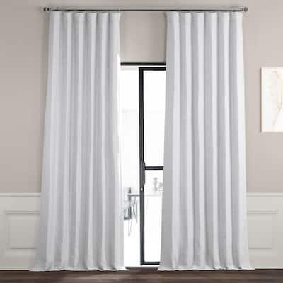 Chalk Off White Rod Pocket Blackout Curtain - 50 in. W x 120 in. L