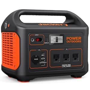 1000-Watt Continuous/2000-Watt Peak Output Power Station Explorer 880 Push Button Start Battery Generator for Outdoors