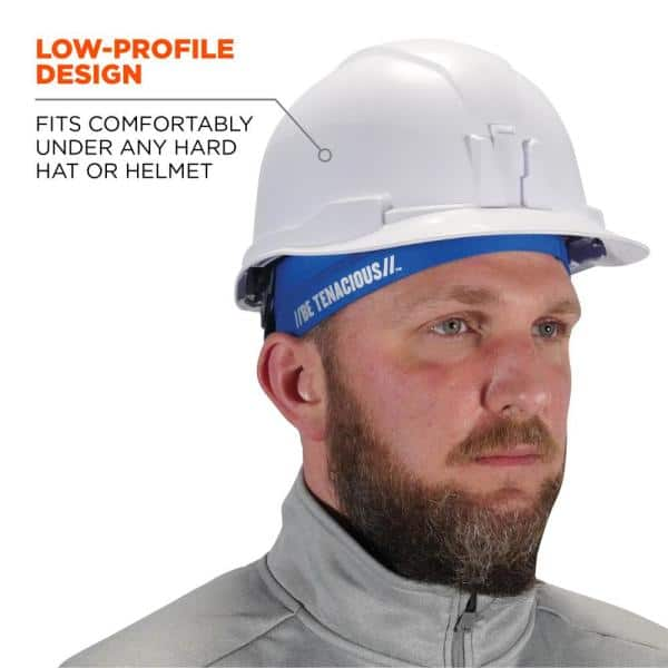 Ergodyne Chill Its Blue Cooling Skull Cap 6632 The Home Depot