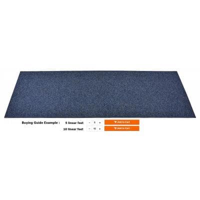 Tough Blue 36 in. W x Your Choice Lenght Custom Size Runner Rugs