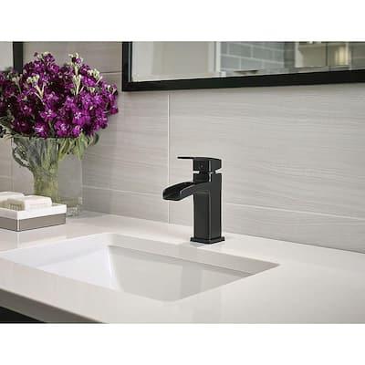 Kenzo Single Hole Single-Handle Bathroom Faucet in Matte Black