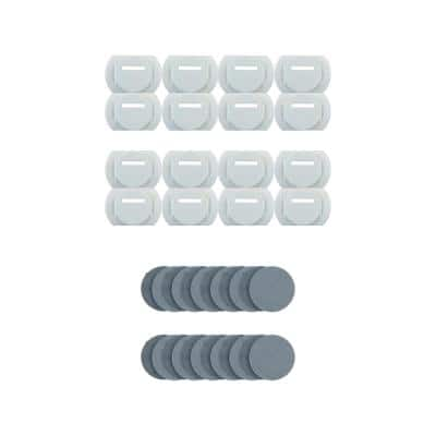 Start/Stop Clips for OMUR Mount System Clips with Adhesive Pads (Pack of 16)