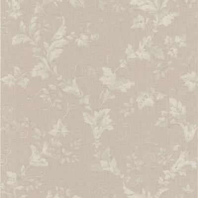 Thames Mauve Leafy Scroll Wallpaper