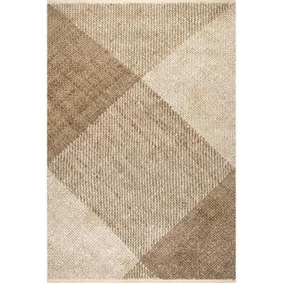 Lilah Plaid Natural 8 ft. x 10 ft. Indoor Area Rug